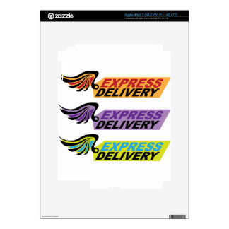 Express delivery sign with a wing iPad 3 decals