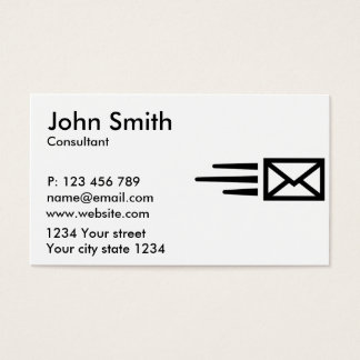 Express mail business card