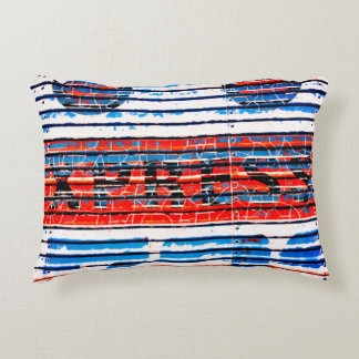"""""""Express"""" - Rustic Peeling Paint Accent Pillow"""