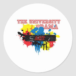 Express the Artist in you, University of Obama Classic Round Sticker