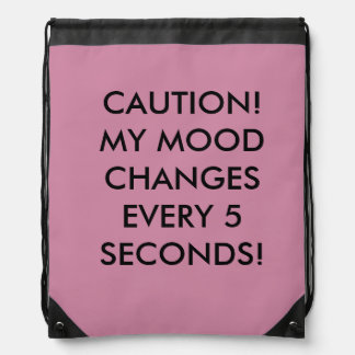 EXPRESS YOUR MOODY SIDE! DRAWSTRING BAG