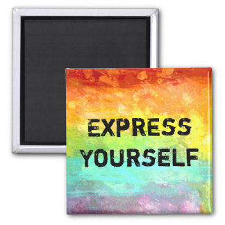 Express Yourself 2 Inch Square Magnet