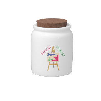 Express Yourself Candy Jars