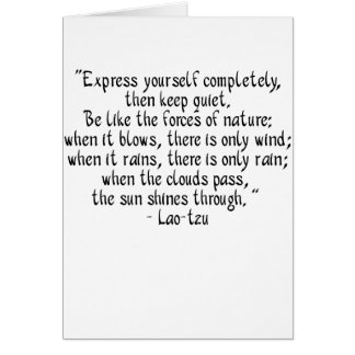 Express yourself completely... card
