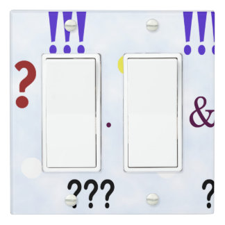 Express Yourself Double Rocker Switch Light Switch Cover