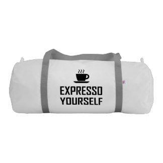 Express Yourself Espresso Coffee Drinker Duffle Bag