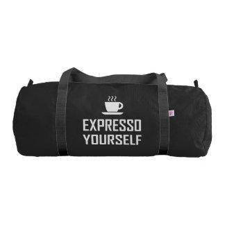 Express Yourself Espresso Coffee Drinker Gym Bag