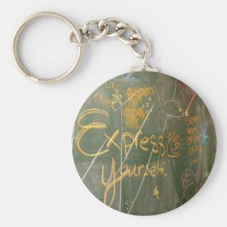 Express Yourself Basic Round Button Keychain