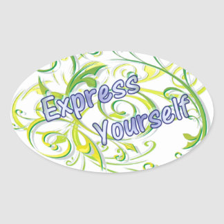 Express Yourself Oval Sticker