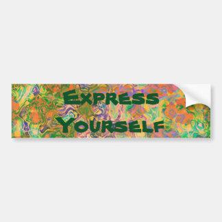 Express Yourself Paint Swirls Car Bumper Sticker