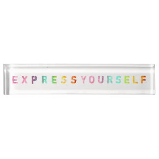 Express Yourself - Painterly Desk Name Plate
