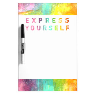 Express Yourself - Painterly Dry-Erase Board