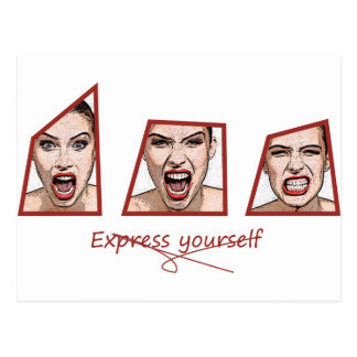 Express yourself postcard