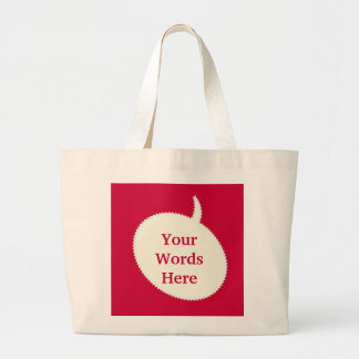 Express Yourself Red Tote Bag