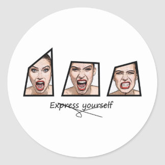 Express yourself round stickers