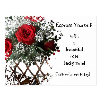 Express Yourself with a Rose Postcard