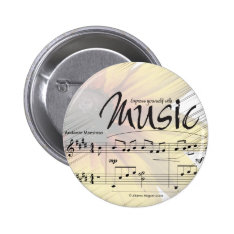 Express Yourself With Music Button at Zazzle