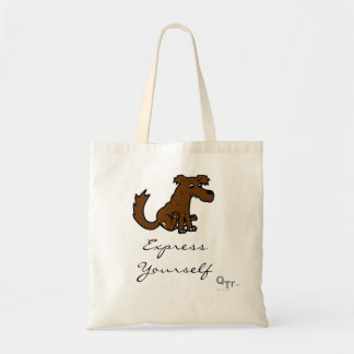 Express Youself Dog Tote Canvas Bag