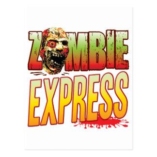 Express Zombie Head Postcard