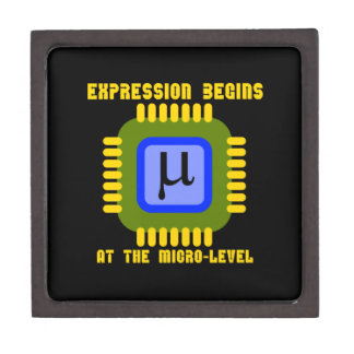 Expression Begins At The Micro-Level Microprocess Gift Box