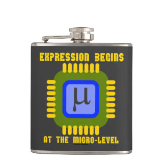 Expression Begins At The Micro-Level Microprocess Hip Flask