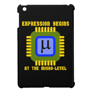 Expression Begins At The Micro Level Microprocess iPad Mini Covers