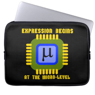 Expression Begins At The Micro-Level Microprocess Laptop Sleeves