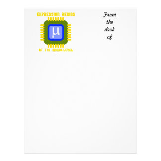Expression Begins At The Micro Level Microprocess Letterhead