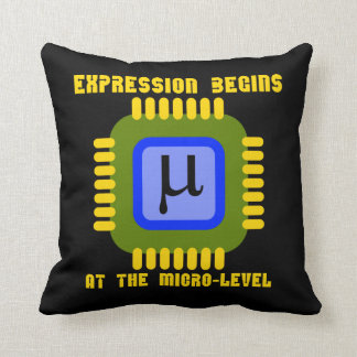 Expression Begins At The Micro-Level Microprocess Throw Pillow