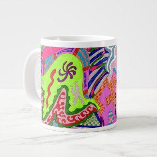 """Expression Fantastic"" Abstract Art 20 Oz Large Ceramic Coffee Mug"