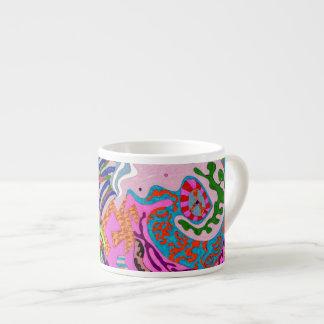 """Expression Fantastic"" Abstract Art Espresso Mug"