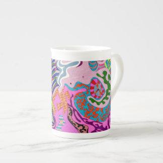 """Expression Fantastic"" Abstract Art Tea Cup"