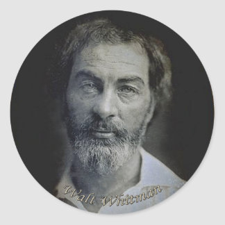 Expression in the Eyes of Walt Whitman Classic Round Sticker