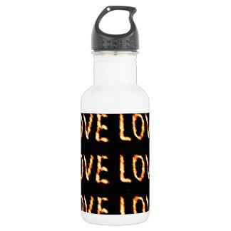 Expression of Deep LOVE : Golden Handcrafte Script 18oz Water Bottle