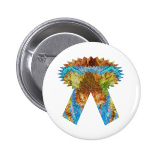 """Expression of Excellence :  Gift one with """"I CARE"""" 2 Inch Round Button"""