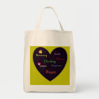 Expression of Harmony Happiness and hope organic g Grocery Tote Bag