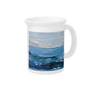 Expression of the Sea - Ocean Decor Beverage Pitcher