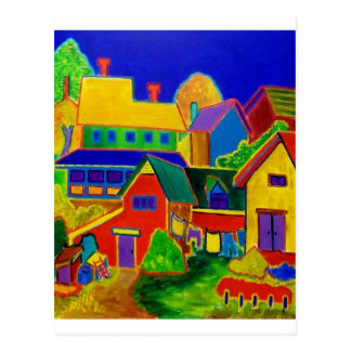 Expressionism Country 3 Postcard