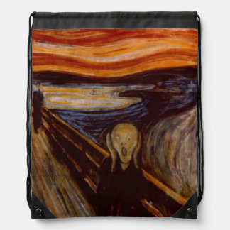 Expressionism Fine Art The Scream Edvard Munch Drawstring Backpack