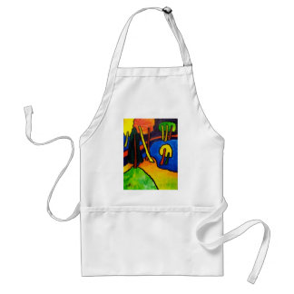 Expressionism Forest Adult Apron