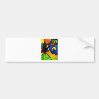 Expressionism Forest Bumper Stickers