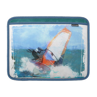 Expressionist Orange Sail Windsurfer Sleeves For MacBook Air