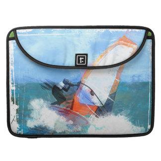 Expressionist Orange Sail Windsurfer Sleeve For MacBooks