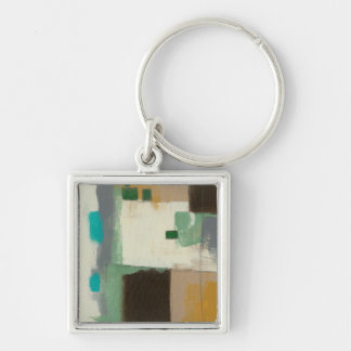 Expressionist Painting with Heavy Brush Strokes Keychain