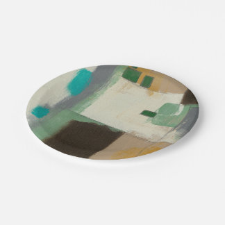 Expressionist Painting with Heavy Brush Strokes Paper Plate