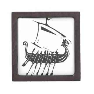 Expressionistic Viking Ship Gift Box