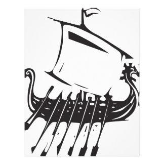 Expressionistic Viking Ship Letterhead