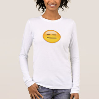 Expressionless Face Emoji Long Sleeve T-Shirt
