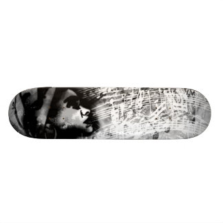 Expressions in love of black & white skateboard