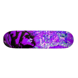 Expressions in love of purple skateboard